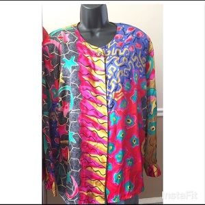 Vintage colorful blouse